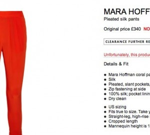 mara hoffman trousers sale