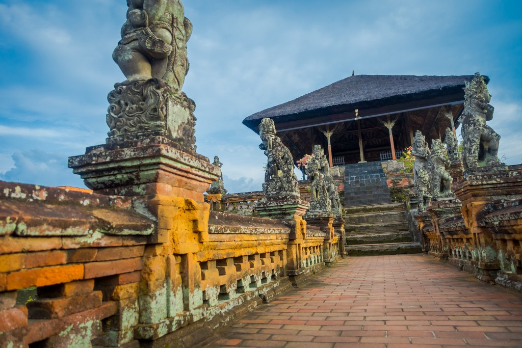 BALI, INDONESIA - MARCH 08, 2017: Semarapura, Kertha Gosa Pavilion in Klungkung Palace, in Denpasar city in Indonesia