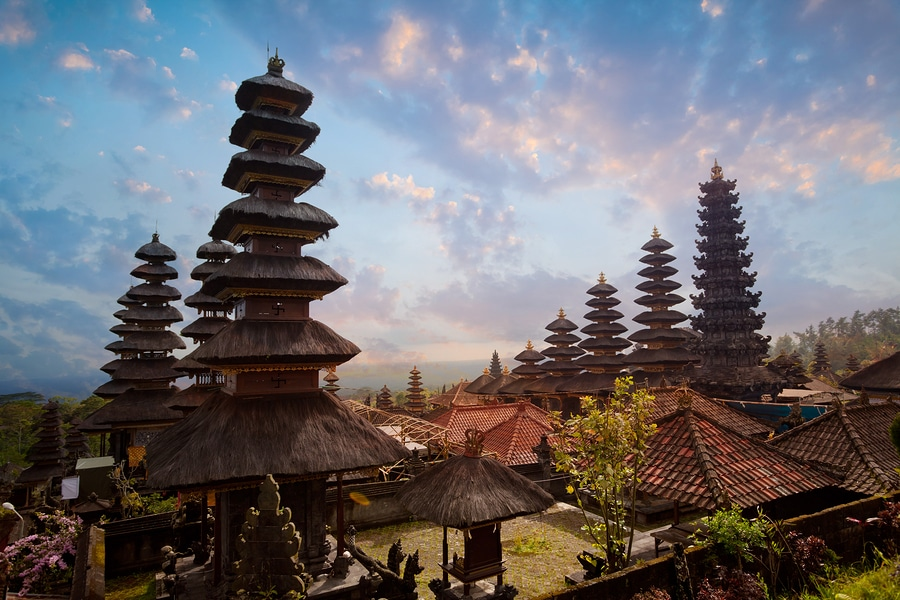Besakih complex Pura Penataran Agung hindu temple of Bali Indonesia